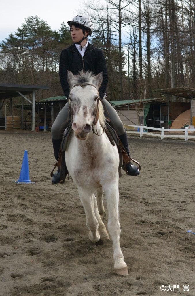 馬に乗る祁答院雄貴