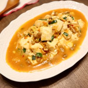 納豆キムチの麻婆豆腐