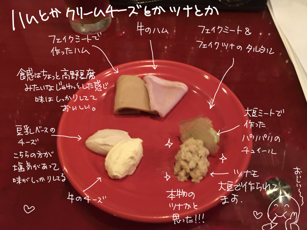 フェイクvs.リアル ハムとチーズ盛り合わせ