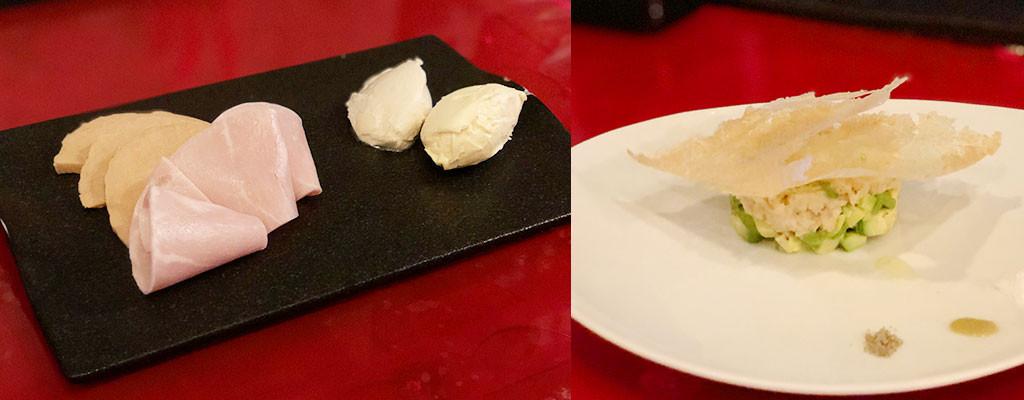 フェイクvs.リアル ハムとチーズ盛り合わせ&フェイクミート×フェイクツナのタルタル