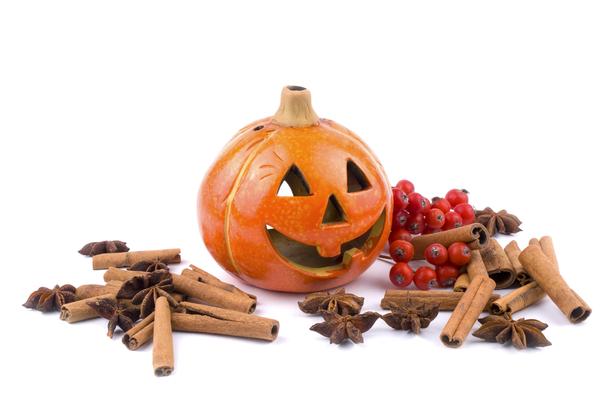ハロウィンの顔になったかぼちゃ